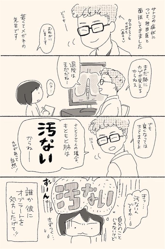 義母の容態について医師と面談する漫画
